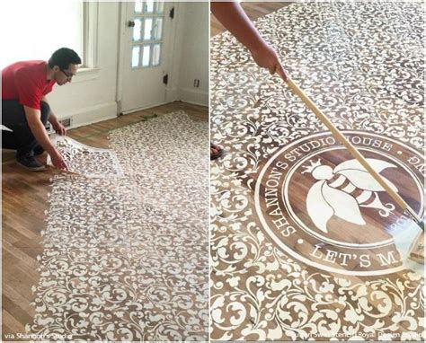 Decorative Floor Painting Ideas 10 Stenciled Floor Makeovers Diy Decor Ideas Using Floor Stencils Royal Design Studio Stencils