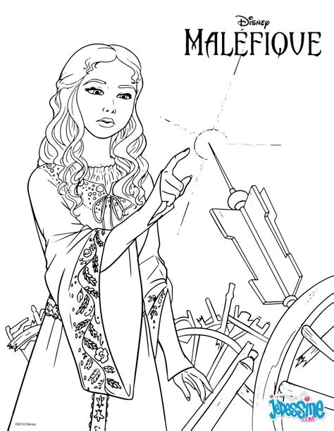 Coloriages Mal 233 Fique Aurore Fr Hellokids Com Coloriage Descendants Disney L