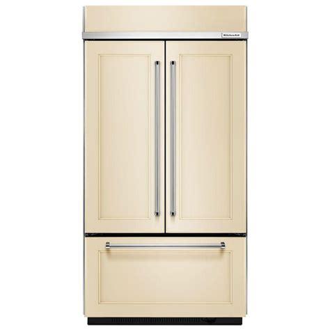 Kitchenaid 36 In W 21 9 Cu Ft French Door Refrigerator Cabinet Depth Door Refrigerator Reviews
