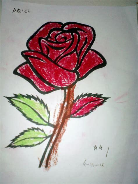 martias db contoh gambar mewarnai bunga mawar