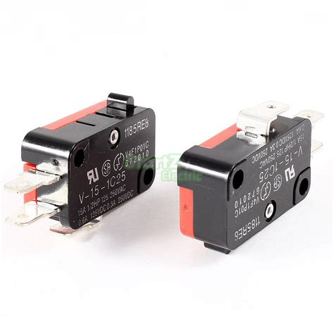 push button l switch 15a 250vac v 15 1c25 push button spdt 1no 1nc micro switch