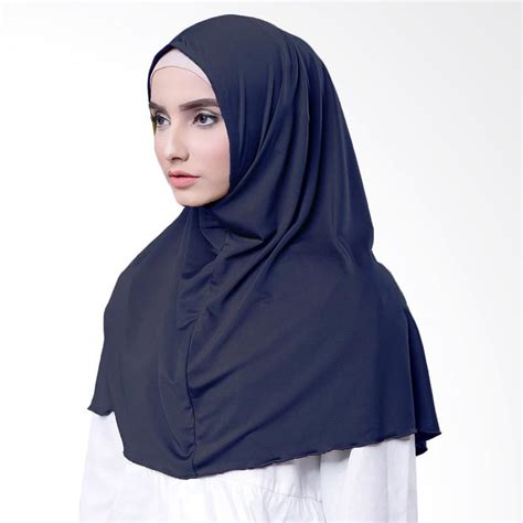 Kaos Muslim Biru jual najwa kaos katun tc premium jilbab instan