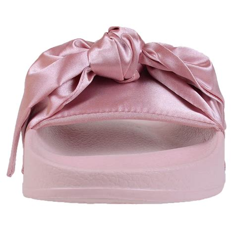Sandal Bow Pink by By Rihanna Fenty S Bow Slide Sandals Pink Olive Green 365774 03 01 Ebay