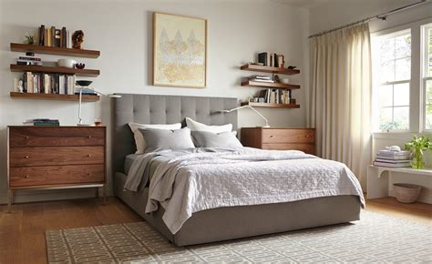 room and board bedroom how to use floating wall shelves room board