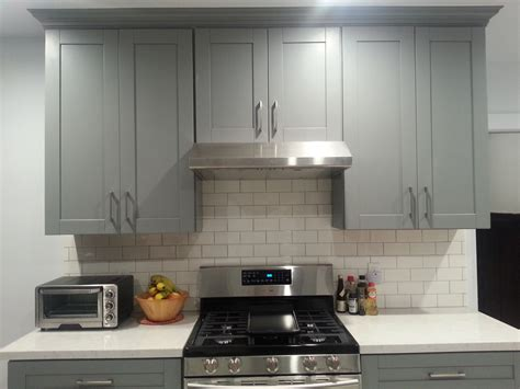 Light Grey Shaker Kitchen Light Gray Shaker Kitchen Cabinets Shaker Style Cabinets In A Warm Gray With Darker Gray