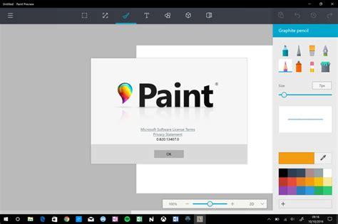 microsoft s redesigned paint app for windows 10 looks microsoft wil van paint een prachtige ontwerp app met 3d