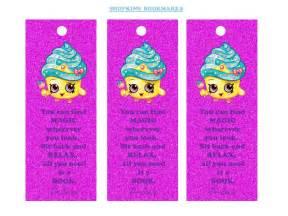 Girls party ideas shopkins shopkins bookmarks free printable