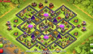 Best farming base for town hall 9 clash of clans coc best base coc