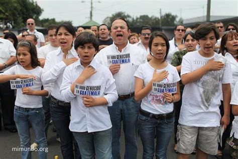Genocide In Guatemala Essays by Today In Guatemala City The Right Wing Demonstrates Anti Foreign Anti Communist March
