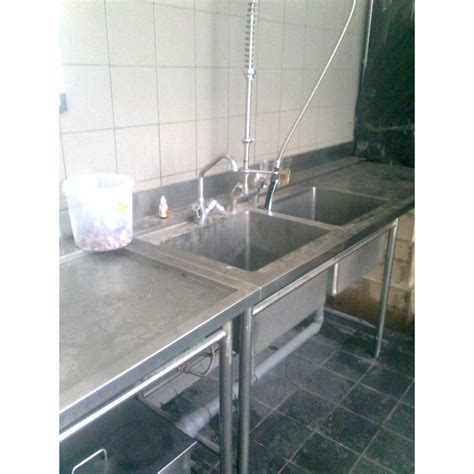 Meja Wastafel Stainless jual meja sink wastafel stainless single sink with