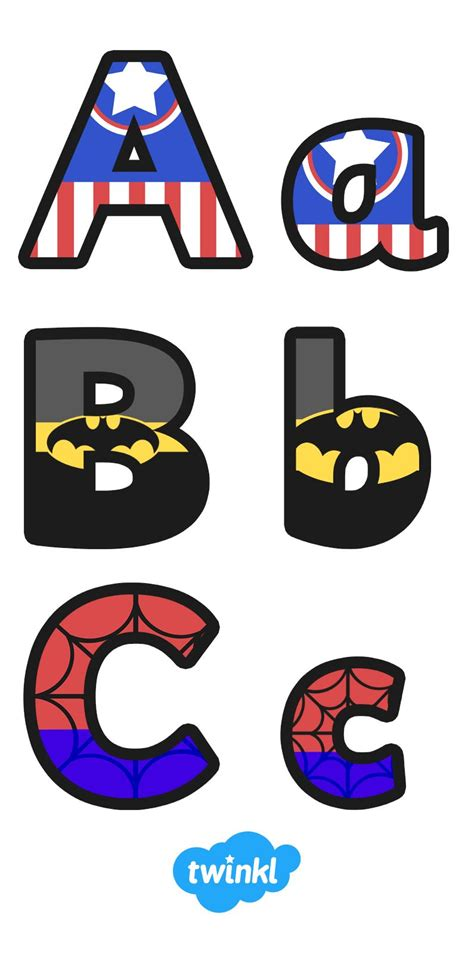 free printable letters for classroom display superhero alphabet display letter pinteres