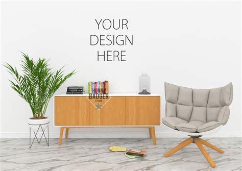 mock up your design here blank wall mockup poster mockup by hu design bundles