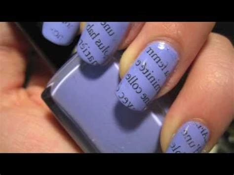 Tutorial Nail Art Giornale | nail art tutorial 31 carta di giornale youtube