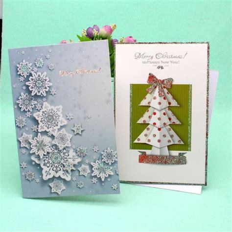 pcslot christmas tree printed festival bless card merry christmas handmade gift card postcard