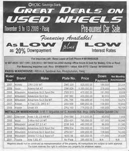 Classified Ads Of Used Cars For Sale In Usa Rcbc Savings Bank Great Deals On Used Wheels Pre Owned Car