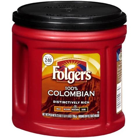 Folgers 100% Colombian Ground Coffee   «Great strength for