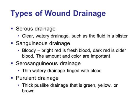surgical drain fluid color chapter 42 assisting with minor surgery ppt