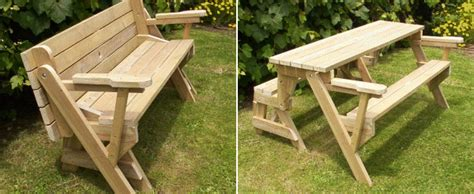 bench folds into picnic table folding picnic table free plans introduction and description