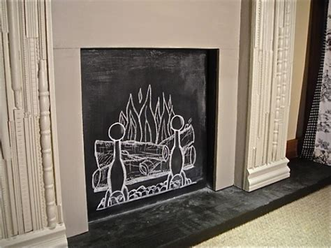 chalkboard paint fireplace popular chalk projects country design style