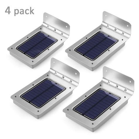 16 LED Solar Light 4 Pack Outdoor Lights Waterproof Energy
