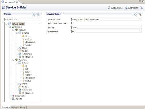 builder pattern spring xml service builder para desarrollar un portlet con gesti 243 n de