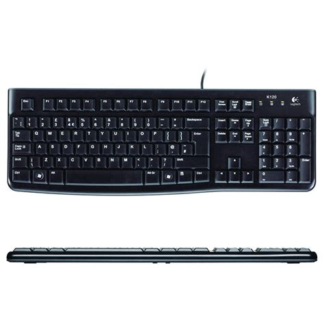 Logitech Usb Keyboard K120 Black 60hdyz logitech k120 wired usb computer keyboard uk layout