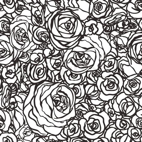 pattern vintage eps seamless pattern with flowers roses vector floral