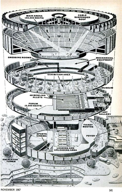 madison square garden floor plan madison square garden exploded view drawing 1967