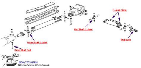 1985 corvette u joints 28 images corvette half shaft