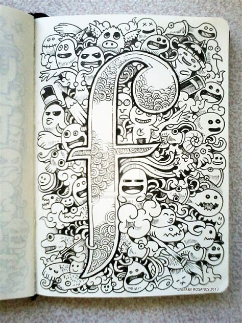 doodle 4 drawing page doodle f is for by kerbyrosanes on deviantart