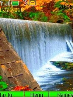 themes mobile waterfall download waterfall animated nokia theme mobile toones