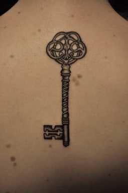 geometric key tattoo geometric tattoo simple design of skeleton key tattoo