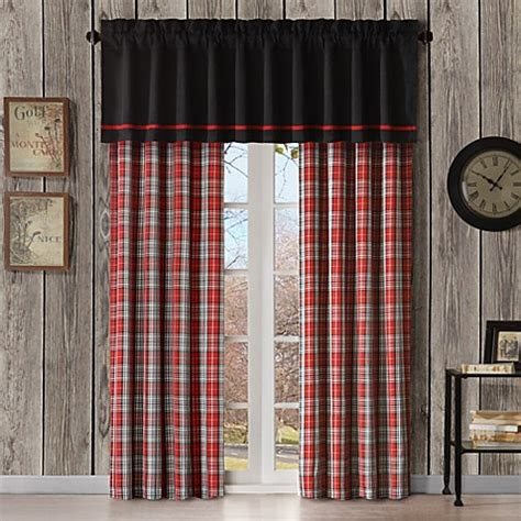 plaid drapes window treatments williamsport plaid window treatments bed bath beyond