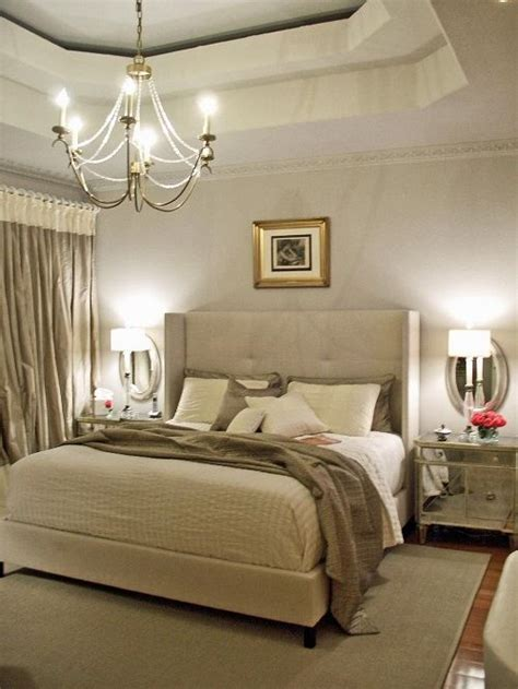 calm  elegant gray  beige bedroom decorations ideas