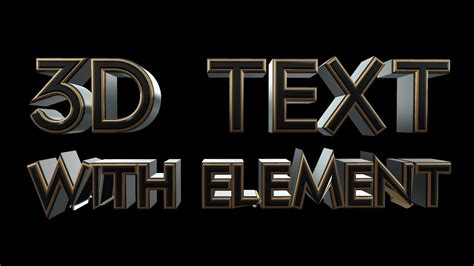 tutorial after effect text 3d after effects tutorial 3d text with element youtube
