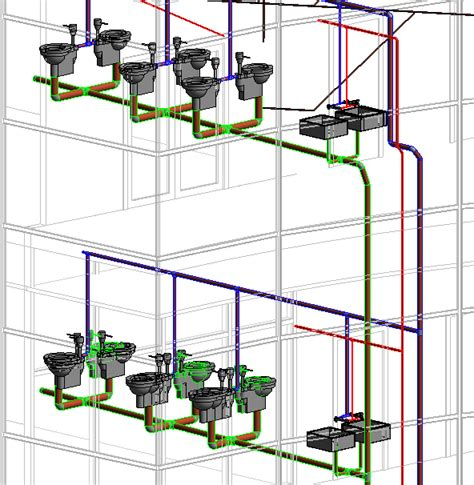Building Plumbing System by Bim