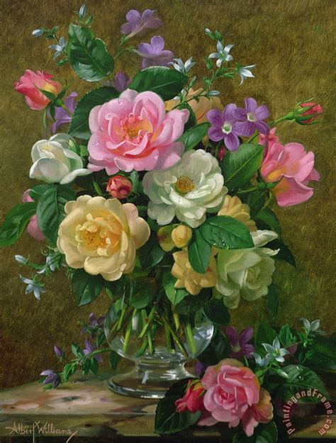 the gallery for gt vase of roses painting