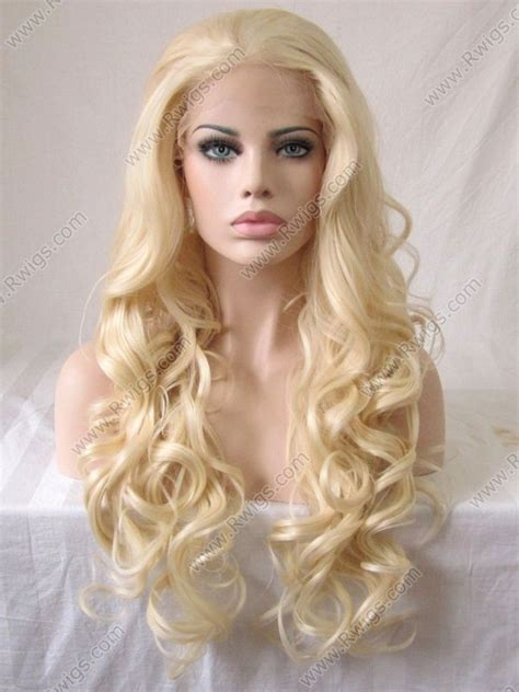 blonde curly partial up do spicy girl wig ebay blonde 613a extra long 26inch wavy synthetic lace front