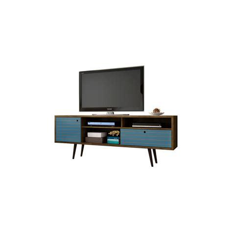 blue entertainment center simpli home redmond rustic aged brown storage