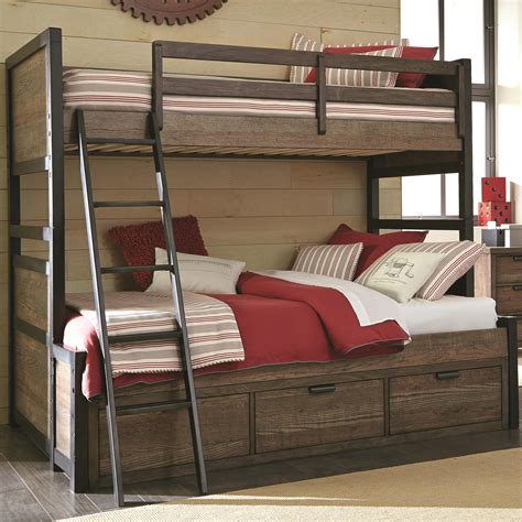 bunk bed storage legacy classic kids fulton county twin over full bunk bed with 3 storage drawers