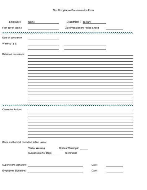 Written Warning Form Employee Written Warning Form Excel Work Pinterest Written Warning Template