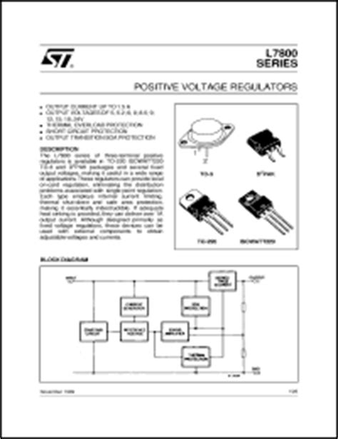 transistor l7812cv stm l7812cv datasheet l7812cv is positive voltage regulators