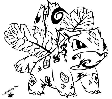002 tribal ivysaur by blackbutterfly006 on deviantart