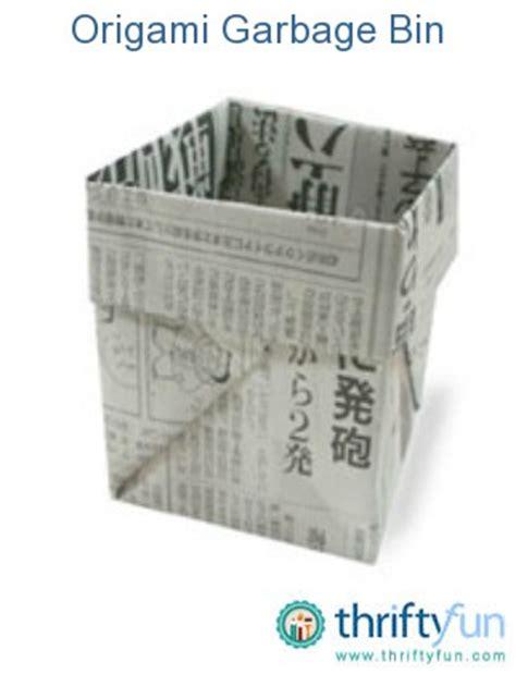 Origami Garbage Bin - origami garbage bin thriftyfun