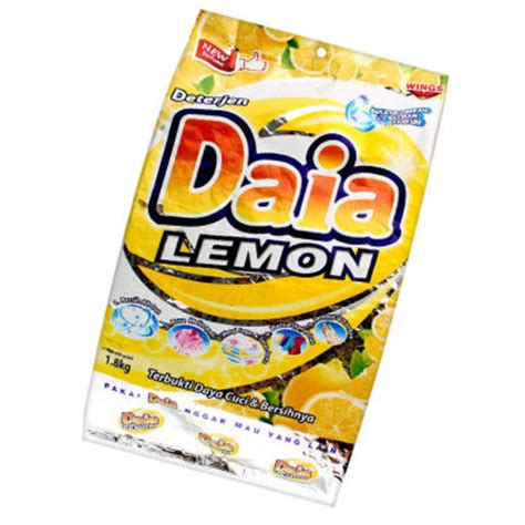Daia Deterjen 1 8 Kg jual daia powder detergen bag lemon 1 8 kg jd id