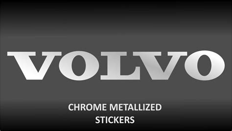 volvo chrome body glass decal sticker stickers     xc xc  ebay