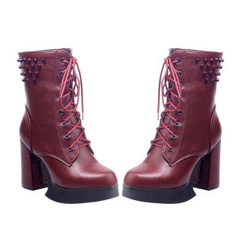 winter high heels boots high quality winter boots high heels boots lace up