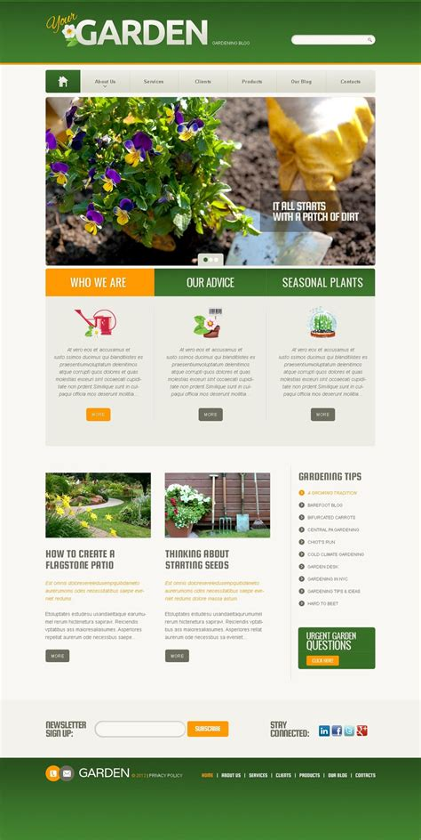 themes wordpress garden garden design wordpress theme web design templates