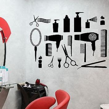 Tokomonster Barbershop 8 Wall Decal Sticker Size 23 salon wall decal vinyl from amazingdecalsart on etsy