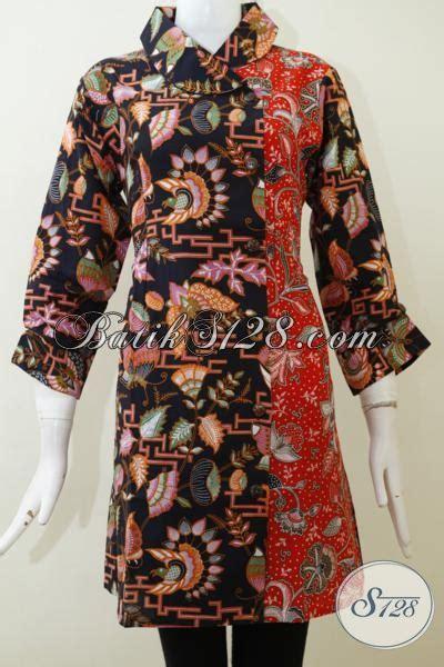 desain baju batik bagus dress batik print dengan desain mewah nan cantik baju